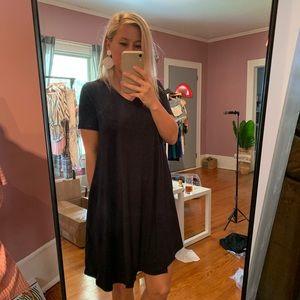 Short Sleeve Navy Summer Dress Small-XL
